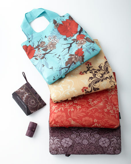 Wanderlust Pouch with Five Reusable Shopping Bags