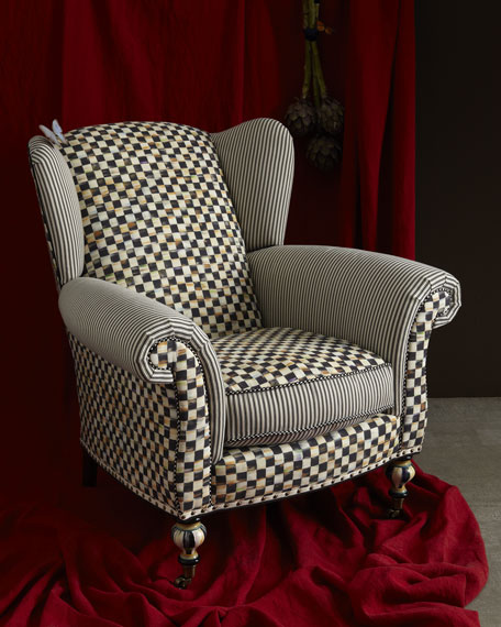 Underpinnings Classic Wing Chair