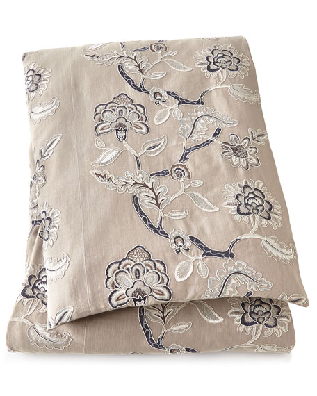 "King English Garden Floral Duvet Cover, 108"" x 94"""