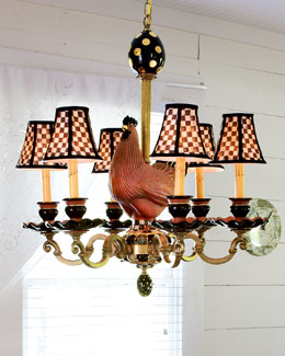 Rooster Six-Light Chandelier