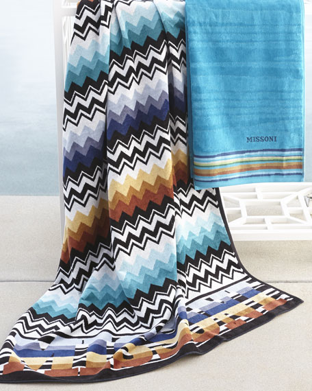 Turquoise Liam Beach Towel