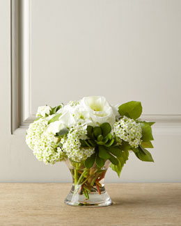 Snowball Faux Floral Arrangement