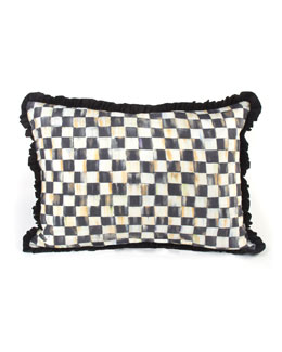 MacKenzie-Childs Courtly Check Ruffled Lumbar Pillow