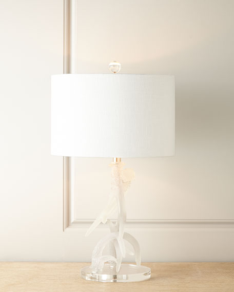 Frosted Antler Table Lamp