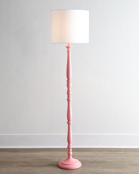 Pink Courtney Floor Lamp