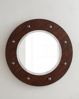 NM EXCLUSIVE Porthole Beveled Mirror