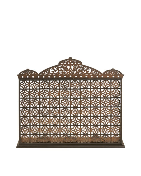 Moroccan Fireplace Screen with Hurricanes