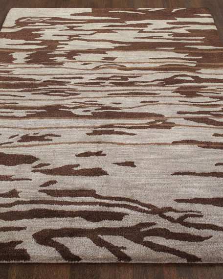 "Jocelyn Chocolate Rug, 3'9"" x 5'9"""