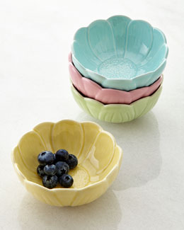 Four Assorted Water Lily Bowls