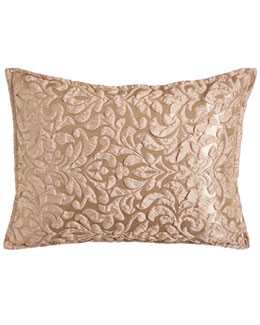 Isabella Collection by Kathy Fielder King Puckered Damask Sham