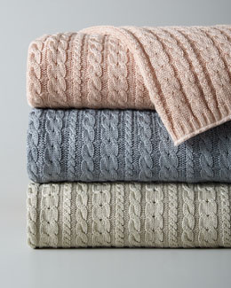 APPAREL SOLUTIONS Cable Knit Throw
