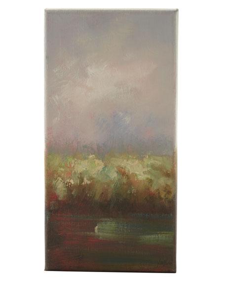 """Aqua and Embers"" Oil Paintings"