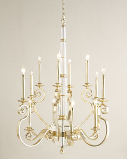 John-Richard Collection Charlotte Scroll Chandelier