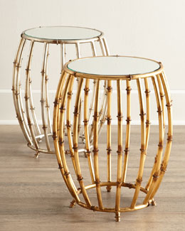 Bamboo-Motif Cage Table