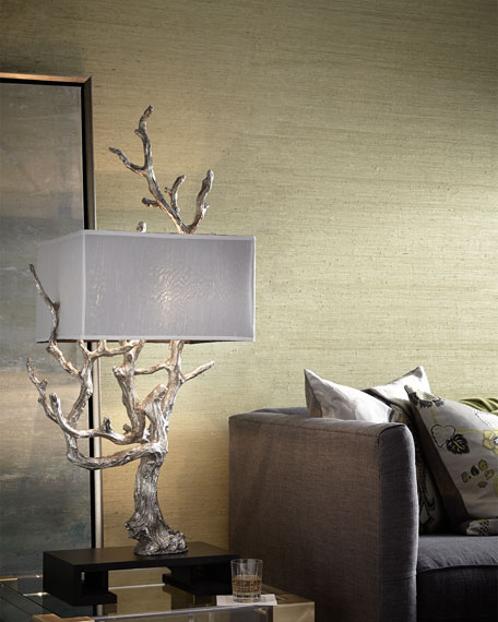 Silvery Mesquite Table Lamp