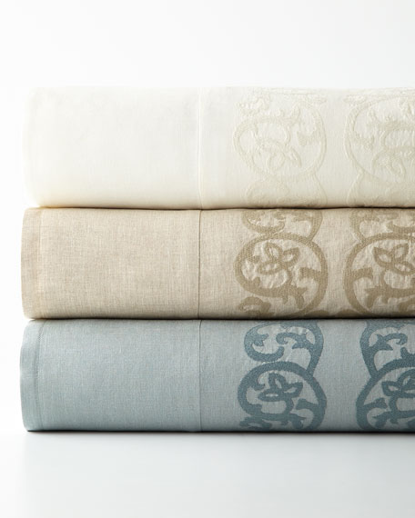 King Allegra Duvet Cover with Embroidered Insets