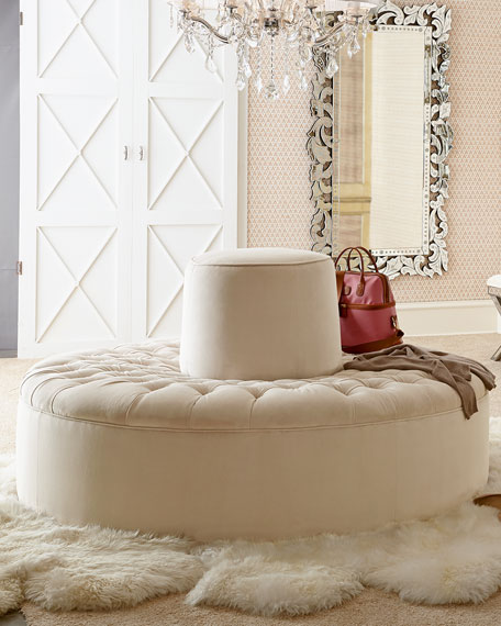 Audrey Tufted Conversation Settee