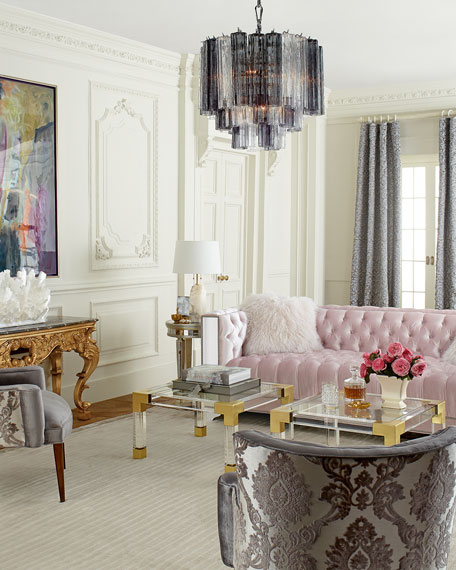 Glamorous Living Room Designs That Wows: Haute House Lena Mirrored Sofa