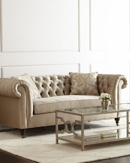 Candice Olson Pepper Tufted Sofa