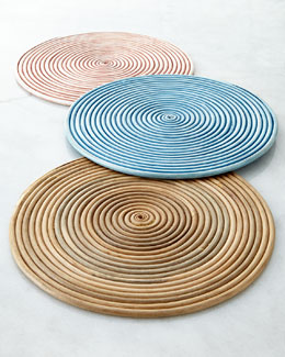 NM EXCLUSIVE Coiled Rattan Charger Plate