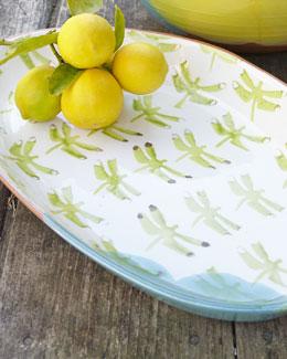 Dragonfly Oval Platter