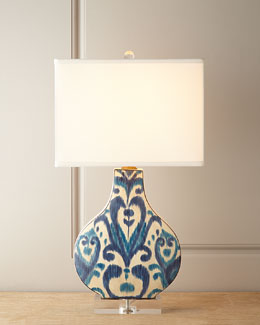 Scalamandre Maison by Port 68 Greystone Indigo Lamp