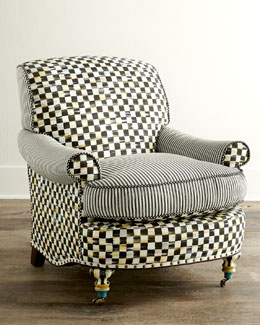 MacKenzie-Childs Courtly Check Underpinnings Club Chair