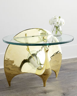 Jonathan Adler Brass Peacock Table