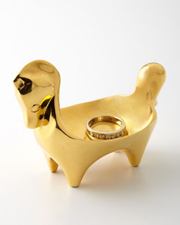 Jonathan Adler Brass Horse Ring Bowl