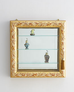 Golden Three-Shelf Vitrine