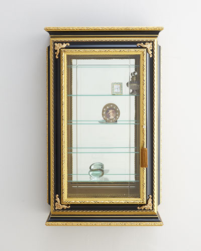 Gold & Black Single-Door Vitrine