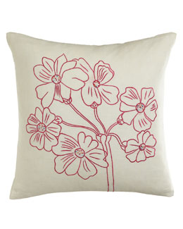 Sabira Pink/White Primrose Pillow