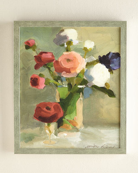 """A Bouquet of Ranunculus"" Giclee"