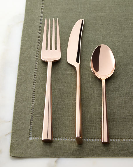 5-Piece Malmo Rose Gold Flatware Place Setting