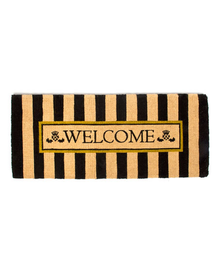 MacKenzie-Childs Awning Stripe Double Door Welcome Doormat