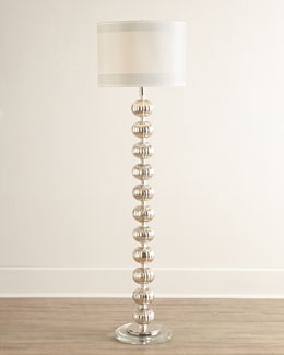 Isla Mercury-Glass Floor Lamp