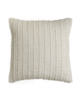 "Woven Ribbons 22"" Square Pillow"