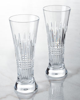 Waterford Crystal Two Lismore Diamond Pilsners
