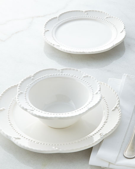 12-Piece Beaded Scalloped Dinnerware Service