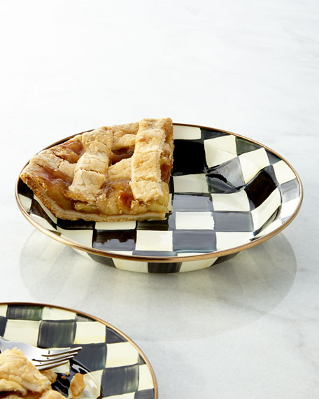 Courtly Check Pie Plate