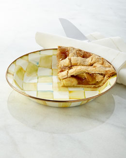 Parchment Check Pie Plate
