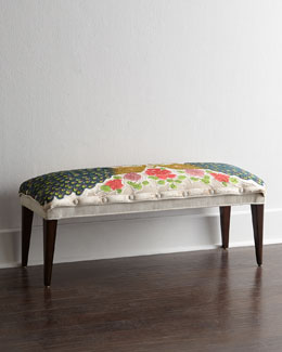 Haute House Cream Peacock Bench