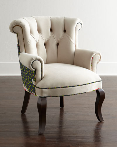 Cream Peacock Chair