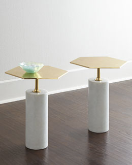 Phoebe Brass-Top Table