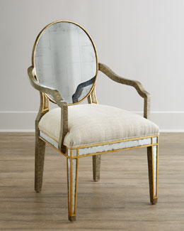 John-Richard Collection Lela Eglomise Armchair