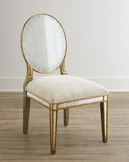 John-Richard Collection Lela Eglomise Side Chair