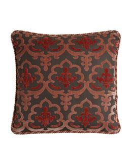 Austin Horn Collection Bathshira Damask Pillow