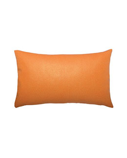 ELAINE SMITH Tangerine Sorbet Snake-Print Lumbar Pillow
