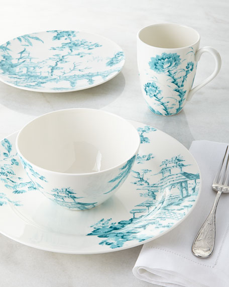 Four-Piece Toile Dinnerware Place Setting