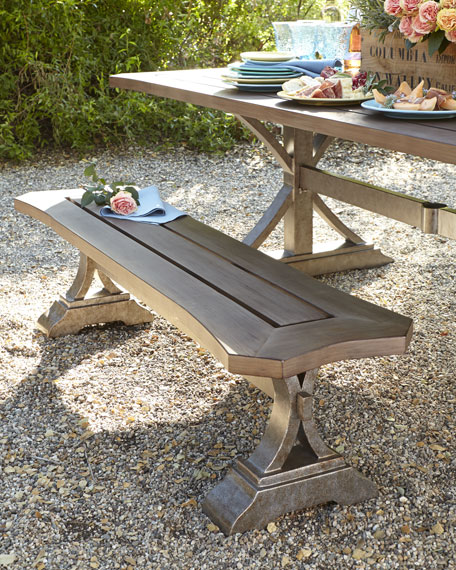 Park Shore Outdoor Dining Bench